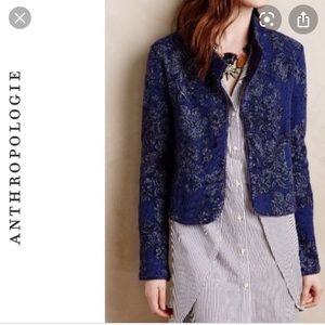 Knitted & Knotted blue nightshade jacquard jacket